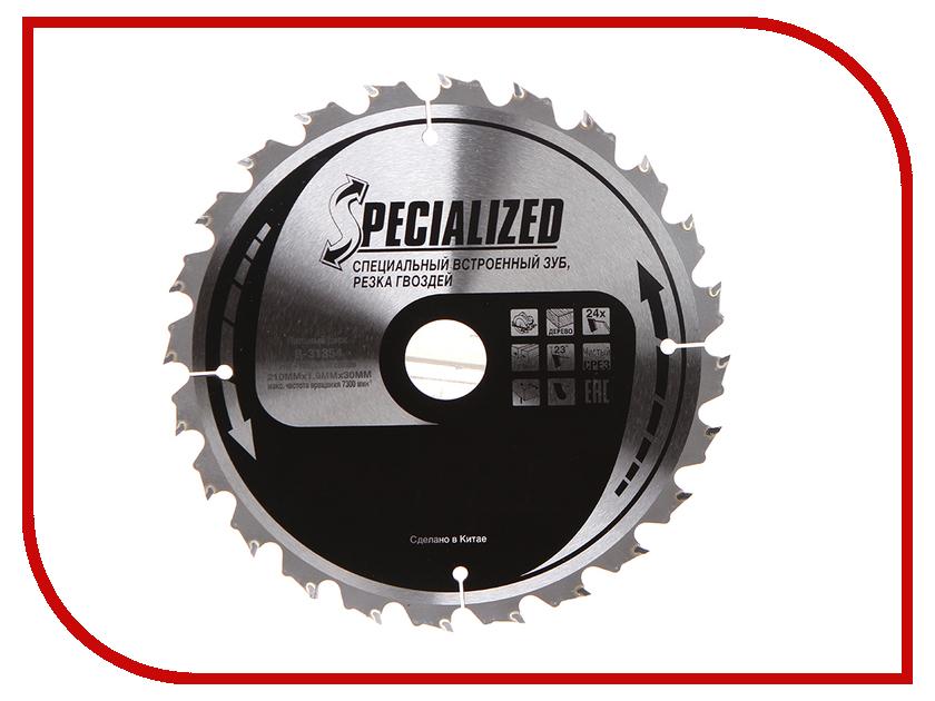 Диск Makita B-31354 пильный по дереву с гвоздями, 210x30mm, 24 зуба