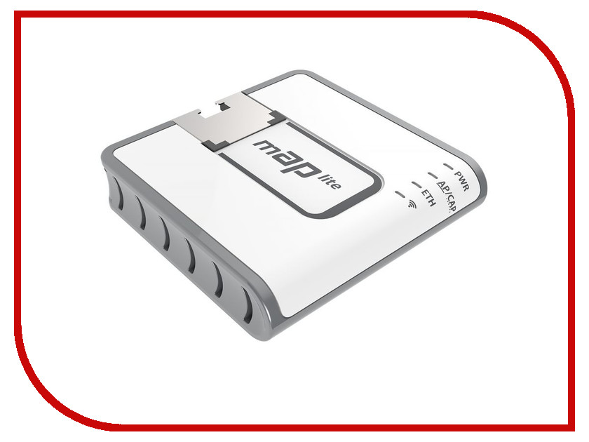 Wi-Fi роутер MikroTik mAP lite RBmAPL-2nD wi fi роутер tp link wbs510 wbs510