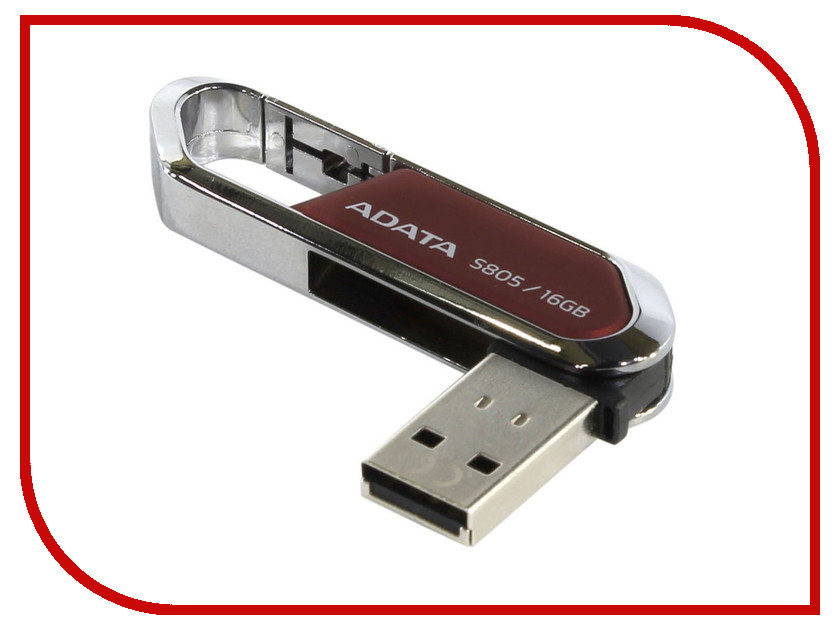 USB Flash Drive 16Gb - A-Data S805 Sport Red AS805-16G-RRD / AS805-16G-CRD<br>