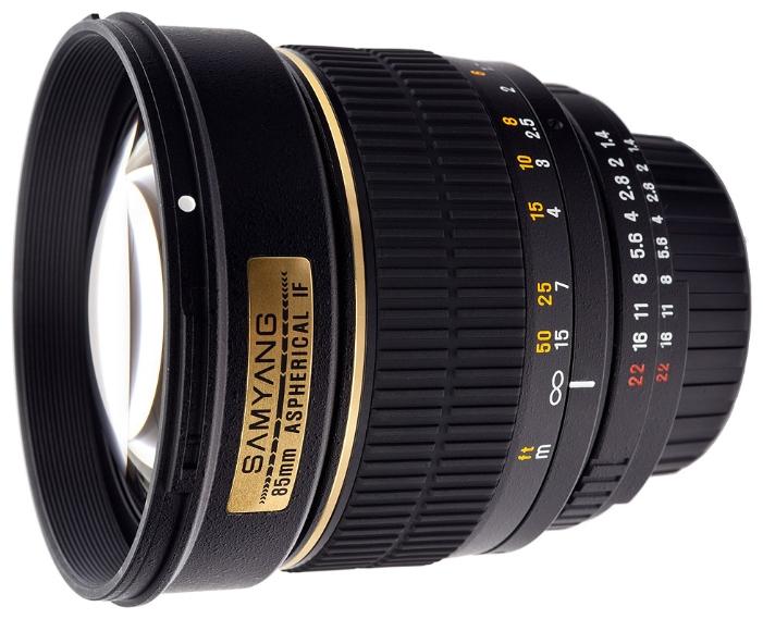 Объектив Samyang Canon MF 85 mm F/1.4 chip - с датчиком подтверждения наводки на резкость chip<br>
