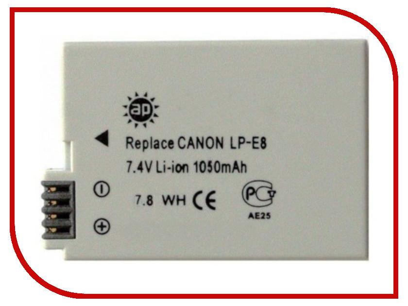 Аккумулятор AcmePower AP LP-E8 аккумулятор digicare plc e8 lp e8 для canon