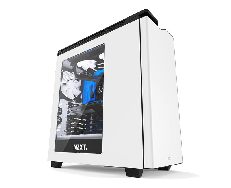 Корпус NZXT H440 White-Black CA-H442W-W1 корпус microatx miditower nzxt h400i smart ca h400w br black red