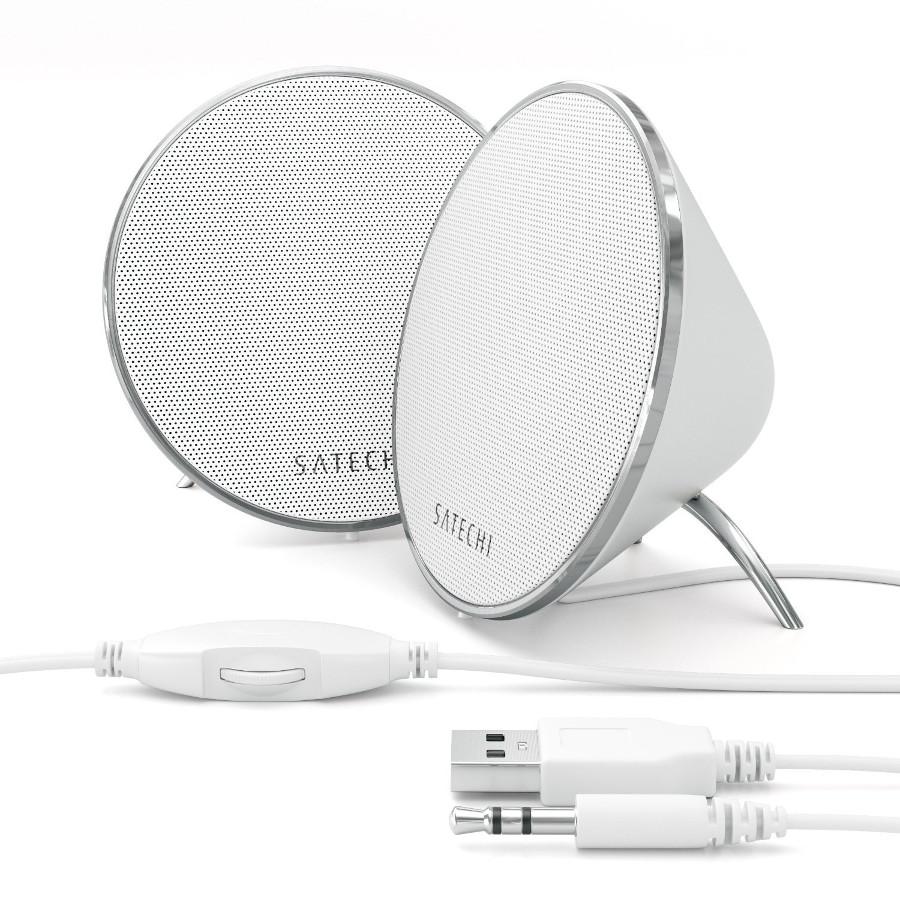 Колонки Satechi Dual Sonic Conical v2.0 White B017RQ1J9K<br>