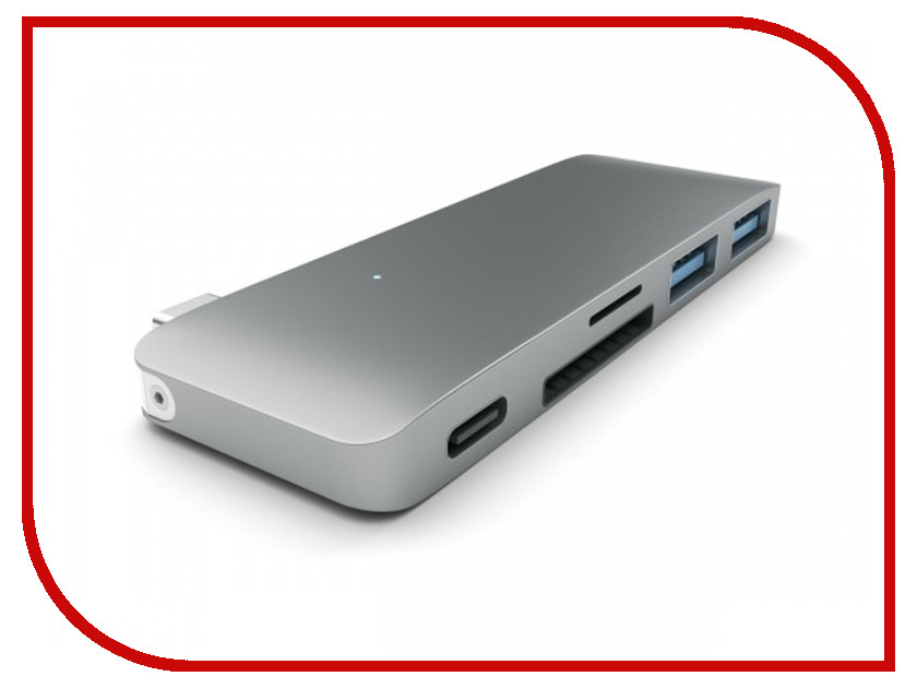 Satechi Combo Hub 3 in 1 USB Type-C USB 3.0 Space Grey B019PHF9UY / ST-TCUPM satechi 10 port usb 3 0 premium aluminum hub b00kb7is1k