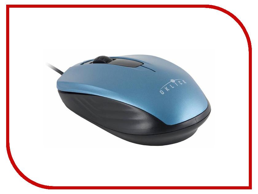 Мышь Oklick 195M Blue-Black USB мыши oklick мышь oklick 195m черный оптическая 800dpi usb 2but
