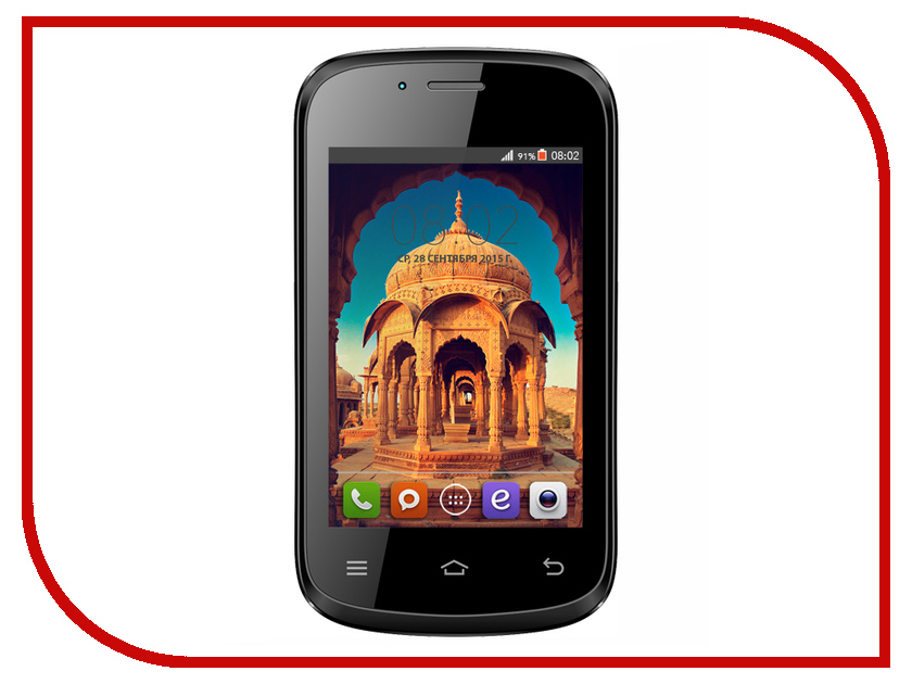 Сотовый телефон BQ Bombay BQS-3503 Black<br>