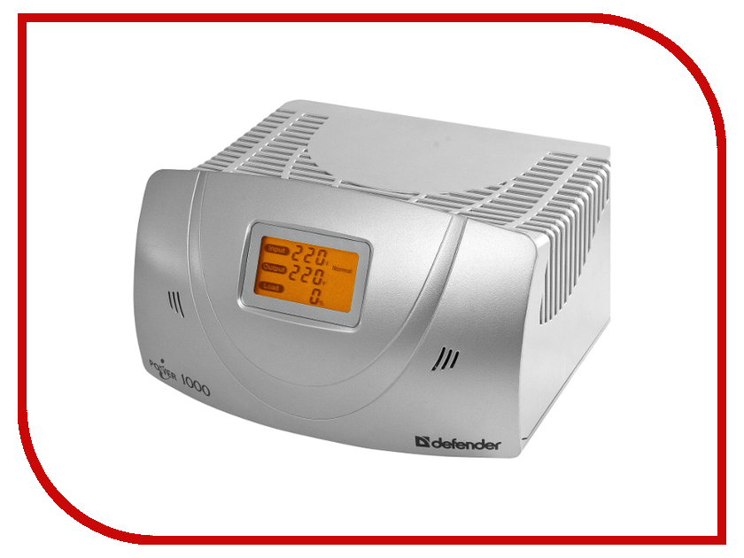Стабилизатор Defender AVR iPower 1000 99025 Silver<br>