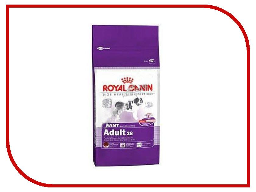 Корм ROYAL CANIN Giant Adult 4kg для собак 00608 royal canin sensitivity control диетический консервированный корм для собак 420 г
