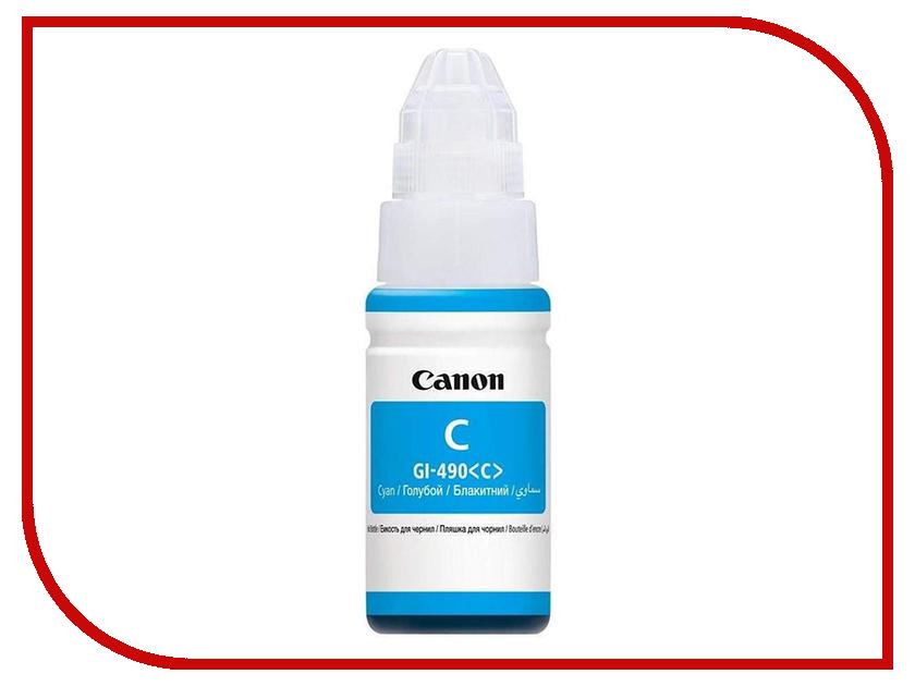 Чернила Canon GI-490C Cyan 0664C001