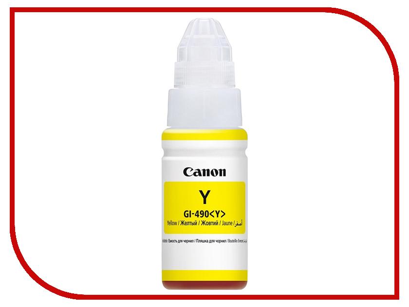 Чернила Canon GI-490Y Yellow 0666C001