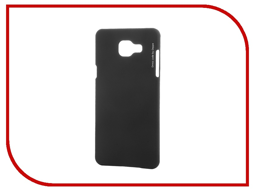 Аксессуар Чехол-накладка Samsung Galaxy A5 2016 Deppa Air Case + защитная пленка Black 83228