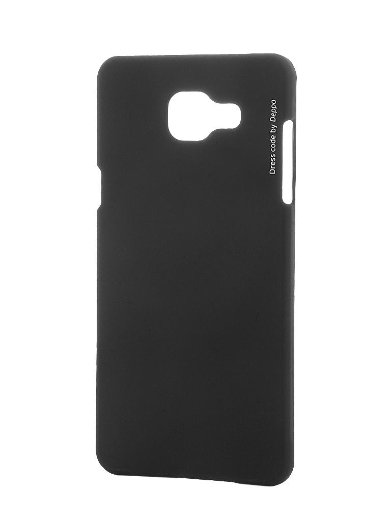 Аксессуар Чехол Samsung Galaxy A5 2016 Deppa Air Case + защитная пленка Black 83228<br>