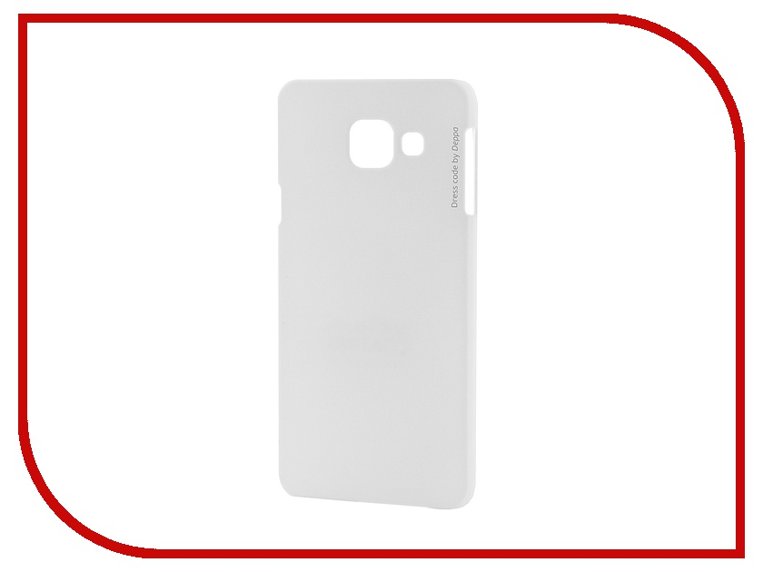 Аксессуар Чехол-накладка Samsung Galaxy A3 2016 Deppa Air Case + защитная пленка White 83224