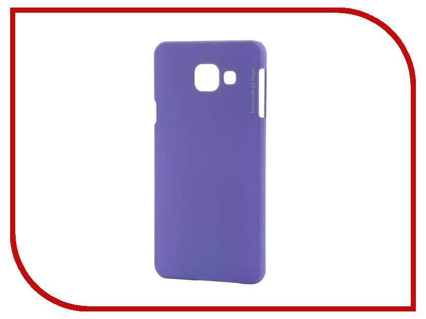 Аксессуар Чехол-накладка Samsung Galaxy A3 2016 Deppa Air Case + защитная пленка Purple 83225