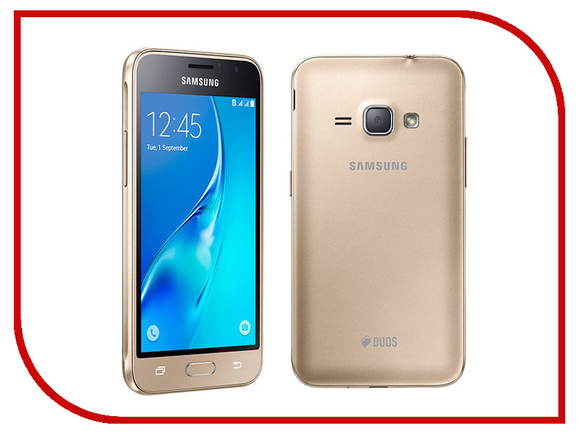 Сотовый телефон Samsung SM-J120F/DS Galaxy J1 2016 Gold телефон samsung galaxy grand prime ve duos sm g531h ds белый