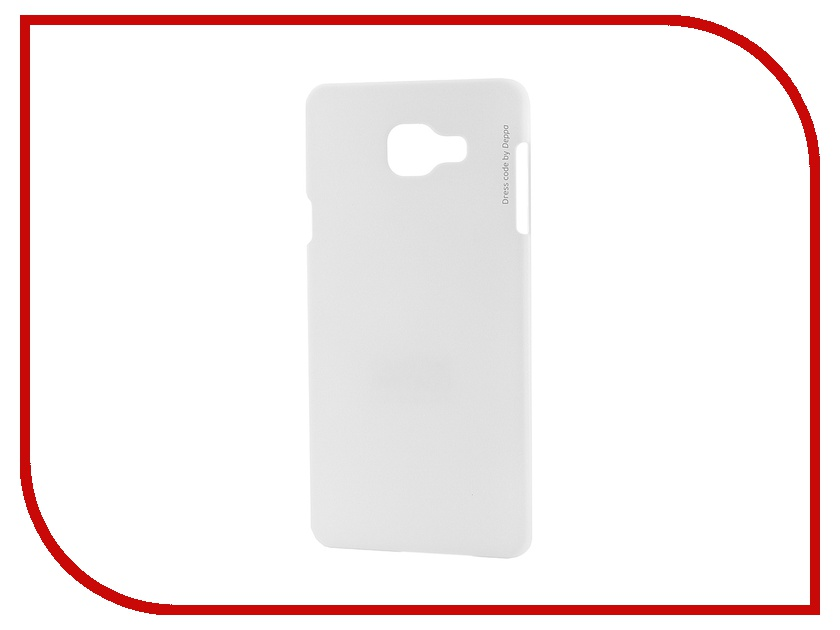 Аксессуар Чехол-накладка Samsung Galaxy A7 2016 Deppa Air Case + защитная пленка White 83234<br>