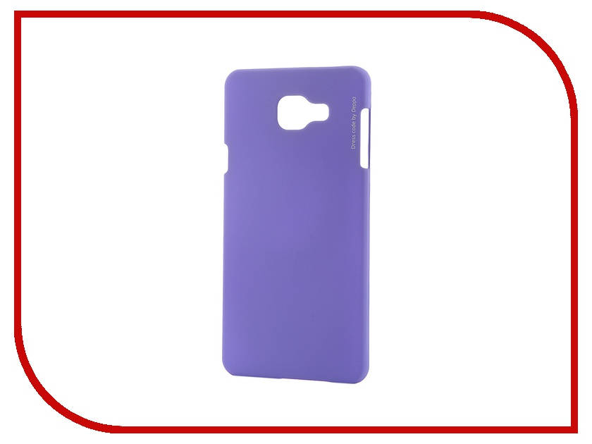 Аксессуар Чехол-накладка Samsung Galaxy A7 2016 Deppa Air Case + защитная пленка Purple 83235<br>