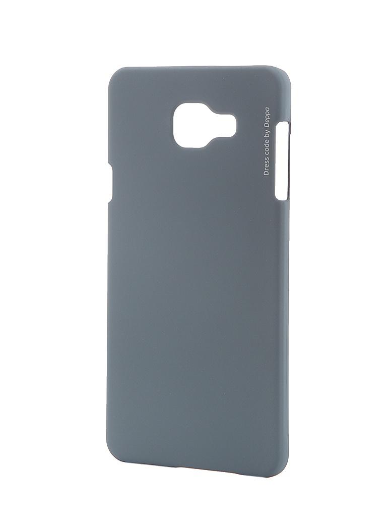 Аксессуар Чехол Samsung Galaxy A7 2016 Deppa Air Case + защитная пленка Grey 83237<br>