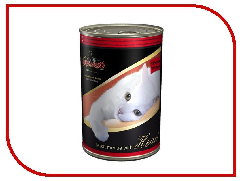 Корм Leonardo Мясо с сердцем 400g для кошек 52739<br>
