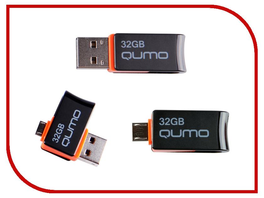 USB Flash Drive 32Gb - Qumo Hybrid OTG QM32GUD-Hyb<br>