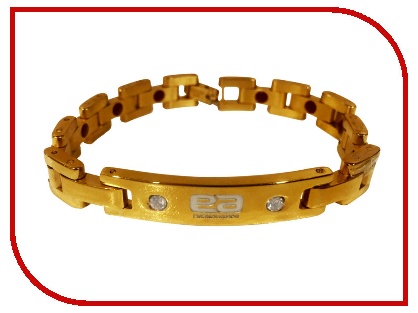 Браслет Energy-Armor Diamond Series Premium Gold Stainless S