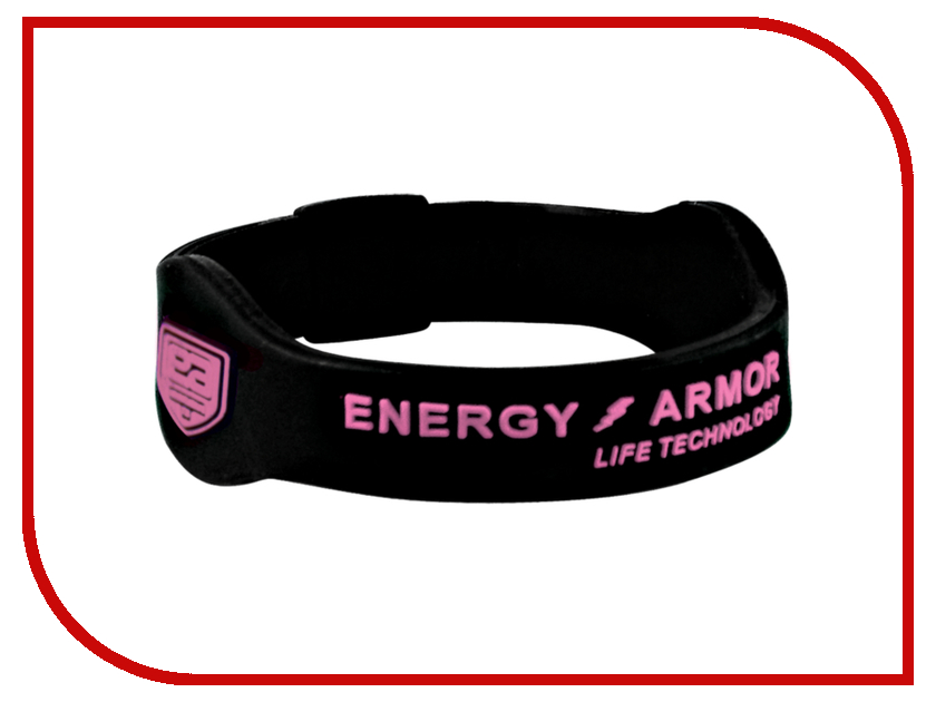 Браслет Energy-Armor Black-Pink M<br>