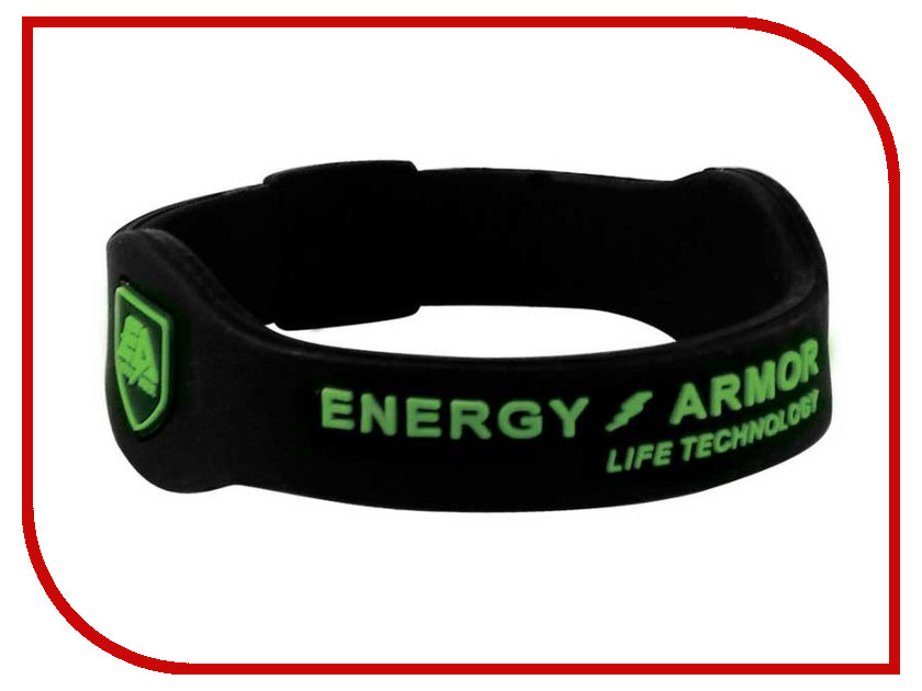 Браслет Energy-Armor Black-Green M<br>