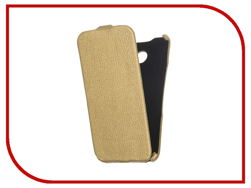 Аксессуар Чехол Cojess for Samsung Galaxy A5 2016 Ultra Slim Экокожа Флотер Gold