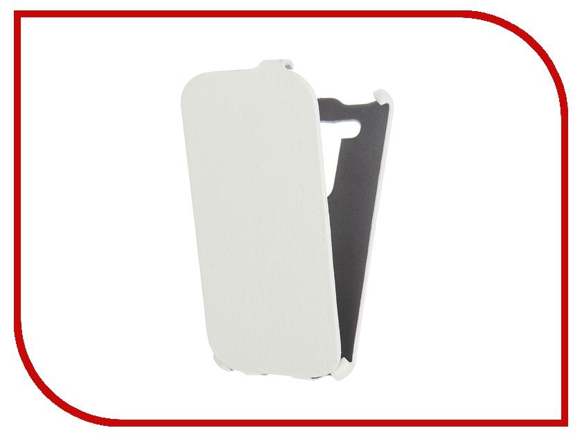 Аксессуар Чехол Cojess for ASUS ZenFone 2 Lazer ZE500KL Ultra Slim Экокожа Флотер White<br>