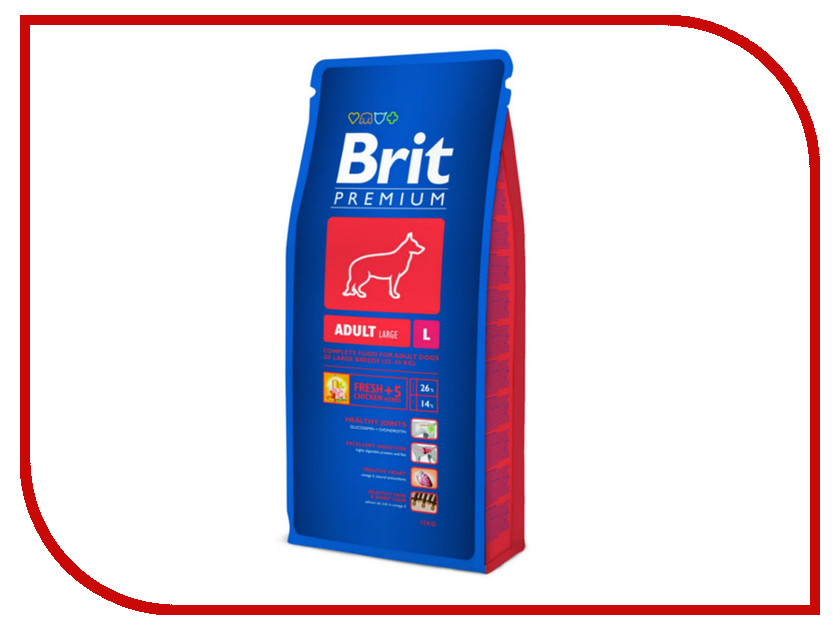 Корм Brit Premium Adult L15kg для собак 9409/132321<br>