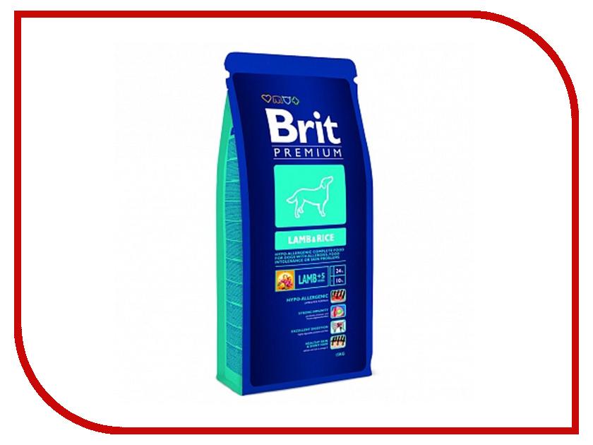 Корм Brit Premium Lamb&amp;Rice 15kg для собак всех пород гипоаллергенный 9461/132337<br>