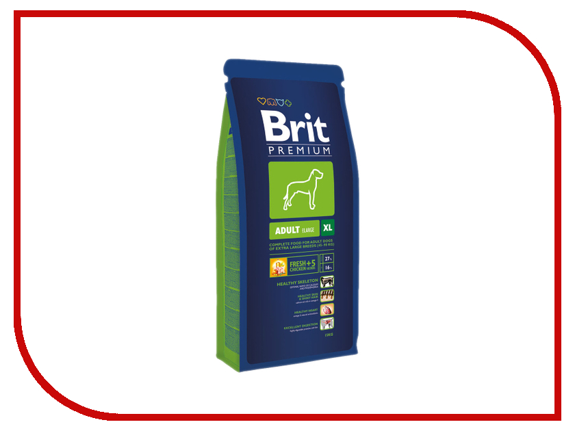 Корм Brit Premium Adult XL 15kg для взрослых собак крупных пород 9416/132327<br>