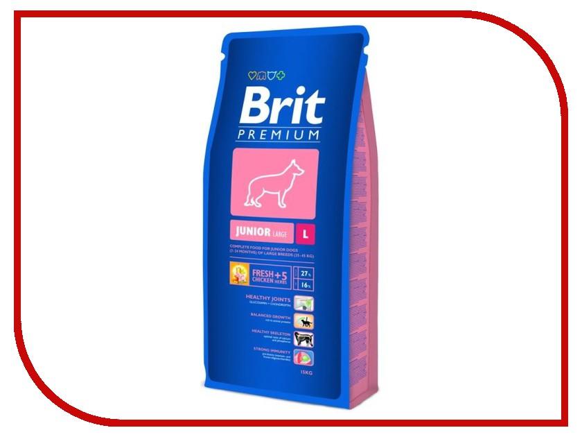 Корм Brit Premium Junior L 15kg для щенков и молодых собак крупных пород 9362/132329<br>
