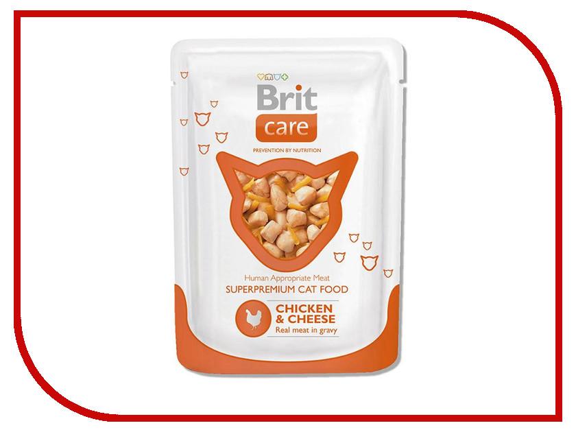 Корм Brit Care Cat Пауч Курица и сыр 80g для кошек 100118<br>