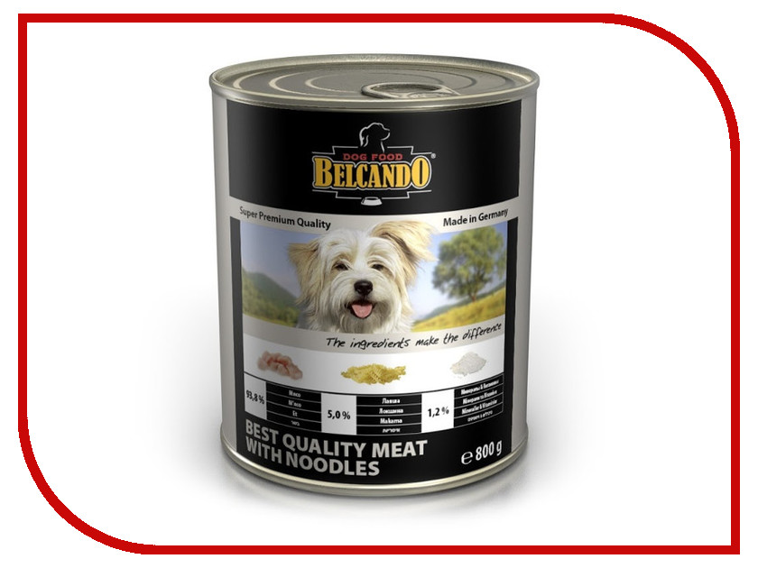 Корм BelcandO Мясо с лапшой 800g для собак<br>