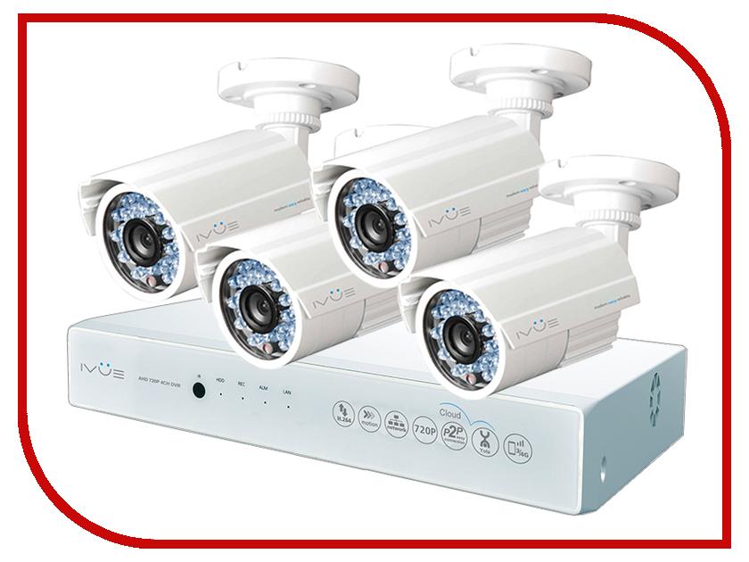 Видеонаблюдение iVUE AHD 1 MPX Дача 4+4 IVUE-D5004 AHC-B4