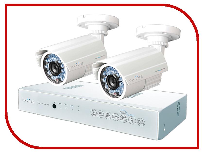 Видеонаблюдение iVUE AHD 1 MPX Дача 4+2 IVUE-D5004 AHC-B2