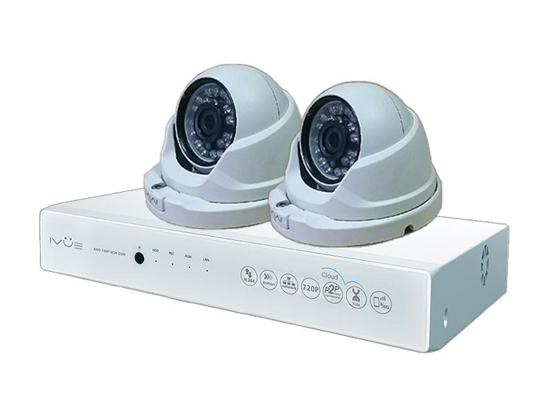 Комплект видеонаблюдения iVUE AHD 1 MPX Дома и Офиса 4+2 IVUE-D5004 AHC-D2