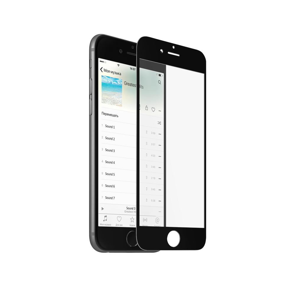 Аксессуар Закаленное стекло DF для iPhone 6 / 6S Black iColor-04 3D