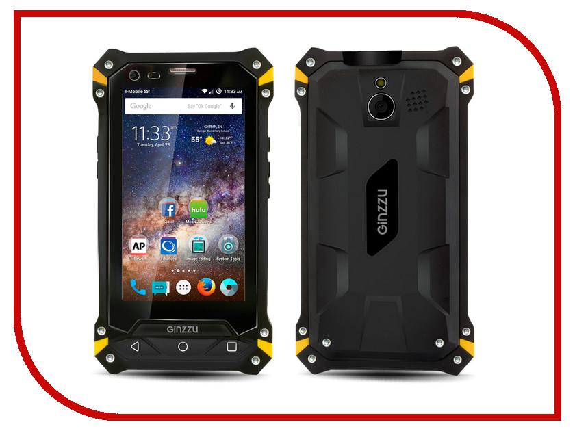Сотовый телефон Ginzzu RS74 Dual Black-Yellow<br>