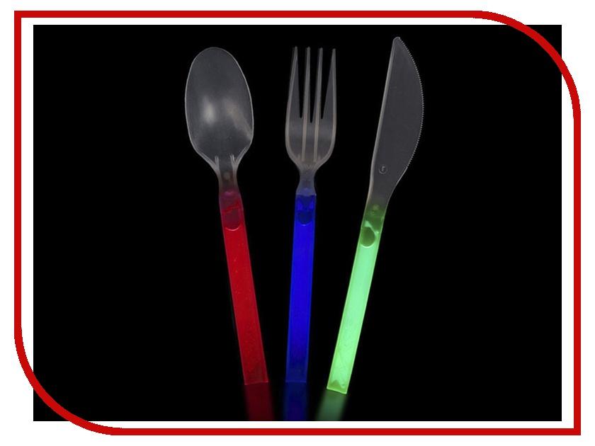 Кухонная принадлежность СмеХторг Ложка, вилка, нож светящиеся в темноте<br>