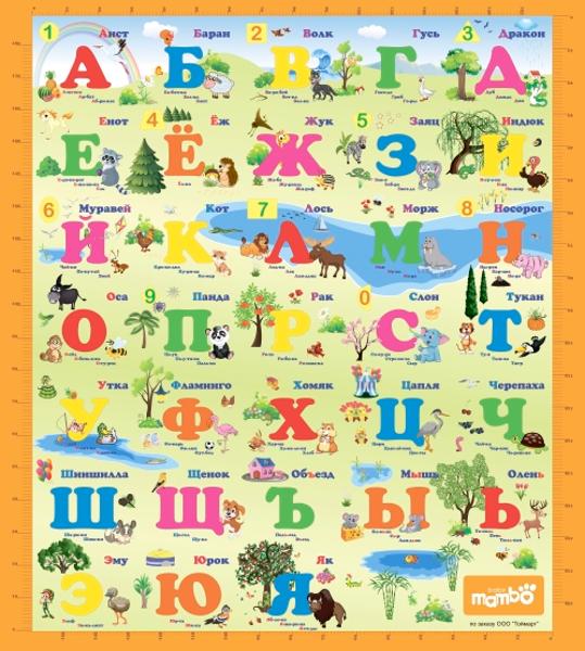 Развивающий коврик Mambobaby Русский Алфавит 004ТМ