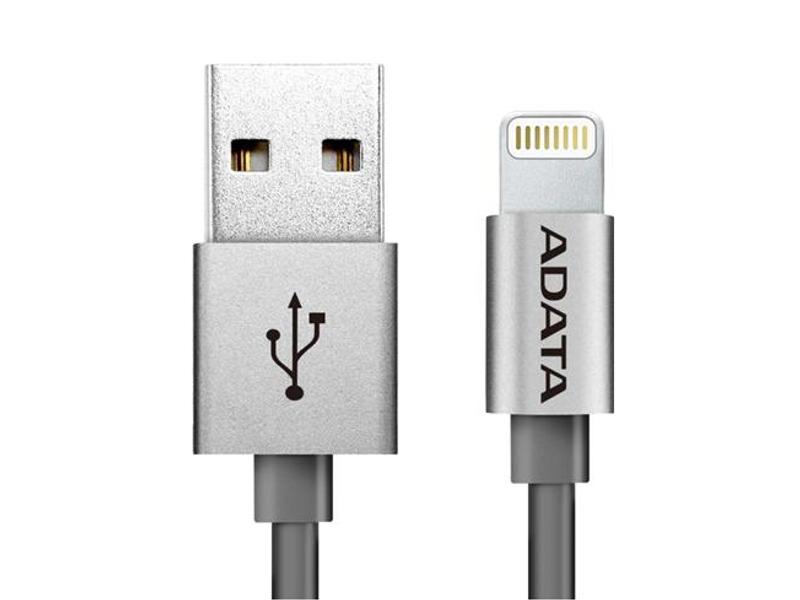 Аксессуар A-Data Lightning to USB 1m AMFIAL-100CM-CTI Titanium<br>
