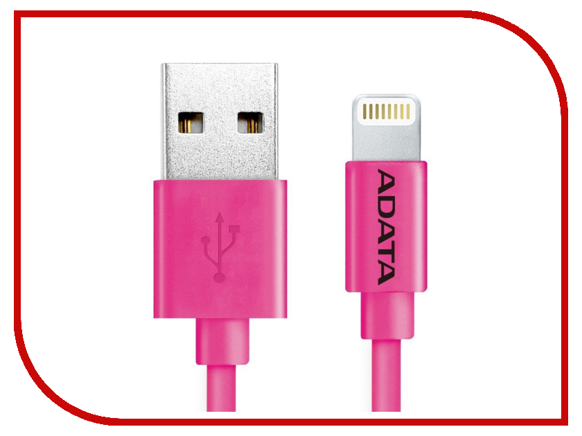 Аксессуар A-Data Lightning to USB 1m AMFIPL-100CM-CPK Pink