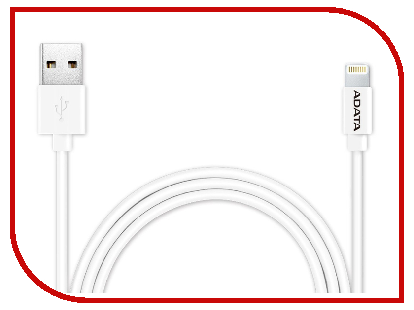 Аксессуар A-Data Lightning to USB 1m AMFIPL-100CM-CWH White
