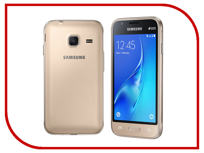 Сотовый телефон Samsung SM-J105H/DS Galaxy J1 Mini (2016) Gold samsung galaxy j1 mini 2016 sm j105h 8gb black