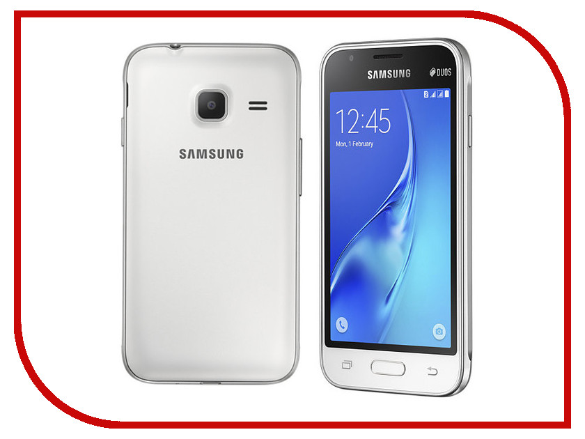 Сотовый телефон Samsung SM-J105H/DS Galaxy J1 Mini (2016) White samsung galaxy j1 mini 2016 sm j105h 8gb black