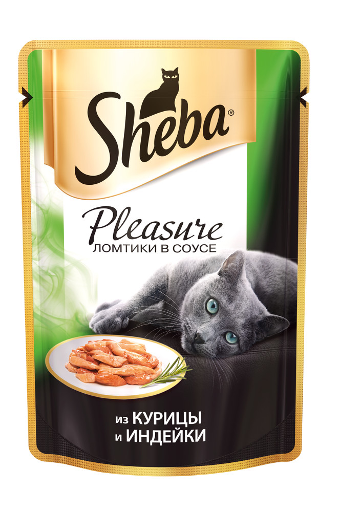 Корм Sheba Пауч Плежер курица /индейка 85g XX016 для кошек<br>