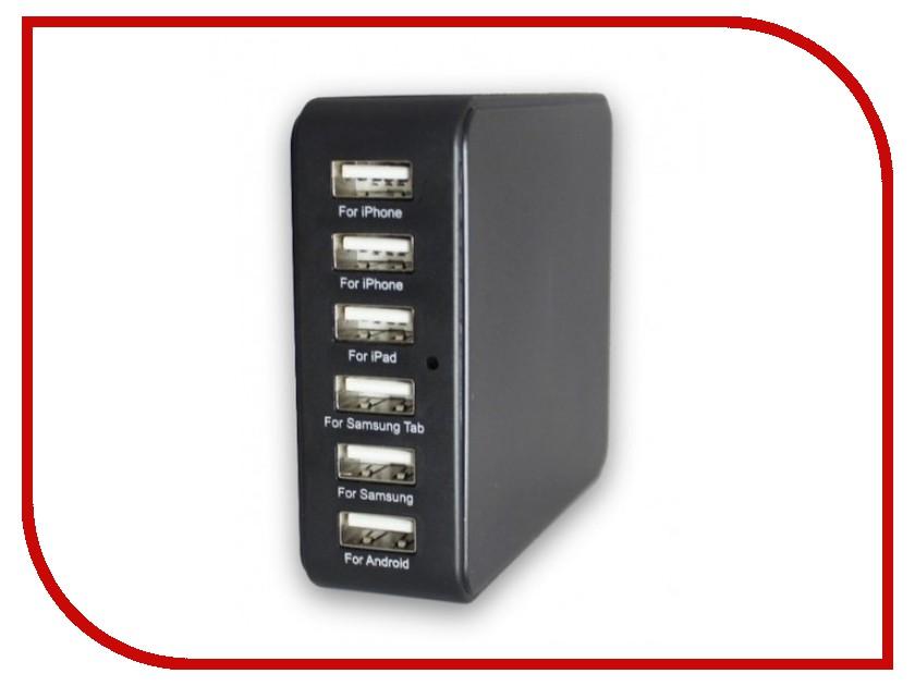 Зарядное устройство Merlin 6-port USB Charging Station сетевое зарядное устройство usb elari power port pe c06 на 6 usb портов