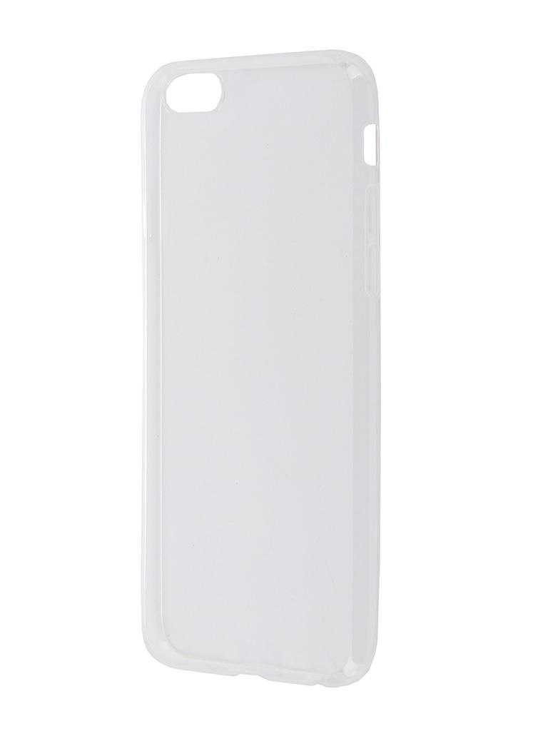 Аксессуар Чехол-накладка Brosco для APPLE iPhone 6 / 6S IP6-TPU-TRANSPARENT аксессуар чехол gecko для apple iphone 6 transparent white s g ip6 1 wh